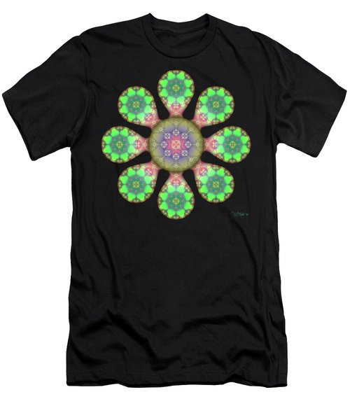 Fractal Blossom 5 Men's T-Shirt (Athletic Fit)