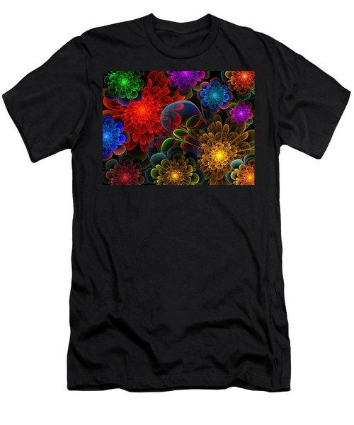 Fractal Bouquet Men's T-Shirt (Slim Fit) by Lyle Hatch