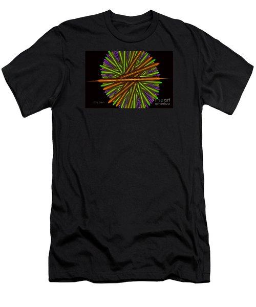 Fractal Feathers Men's T-Shirt (Athletic Fit)