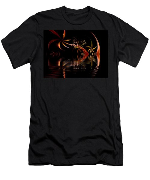 Fractal Fireworks Reflections Men's T-Shirt (Athletic Fit)