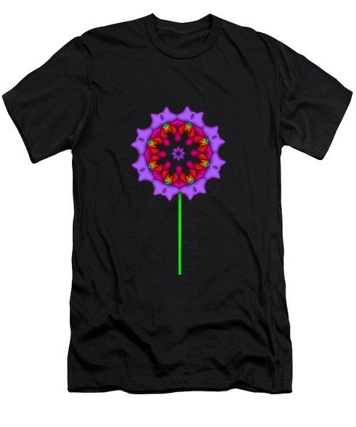 Fractal Flower Garden Flower 02 Men's T-Shirt (Athletic Fit)