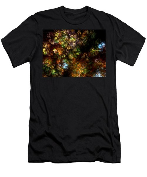 Fractal Flowers Men's T-Shirt (Athletic Fit)