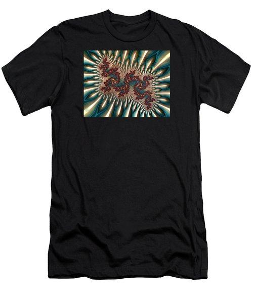 Fractal Landscape V Men's T-Shirt (Athletic Fit)
