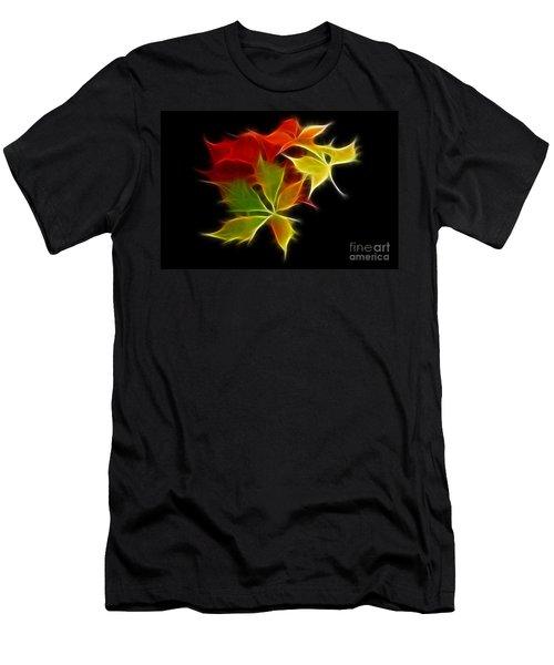 Fractal Leaves Men's T-Shirt (Athletic Fit)
