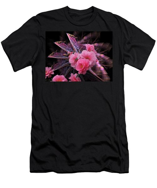 Fractal Meets Camellia  Men's T-Shirt (Athletic Fit)