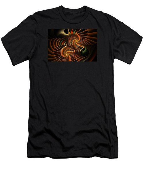 Fractal Spirochete Men's T-Shirt (Athletic Fit)