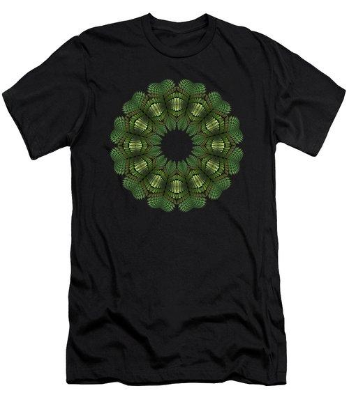 Fractal Wreath-32 Spring Green T-shirt Men's T-Shirt (Athletic Fit)