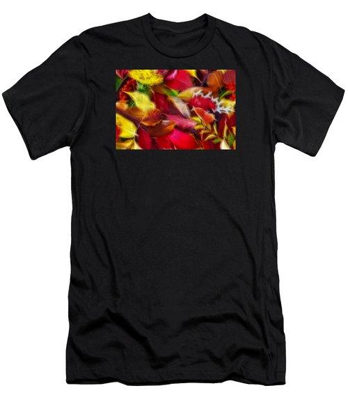 Fractalius Leaves Men's T-Shirt (Athletic Fit)