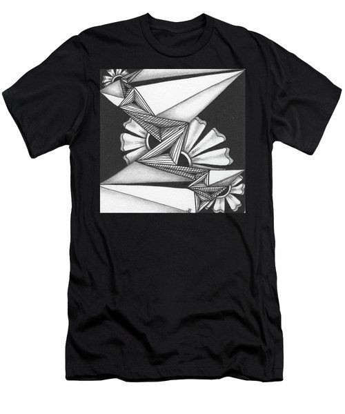Men's T-Shirt (Athletic Fit) featuring the drawing Fractured by Jan Steinle