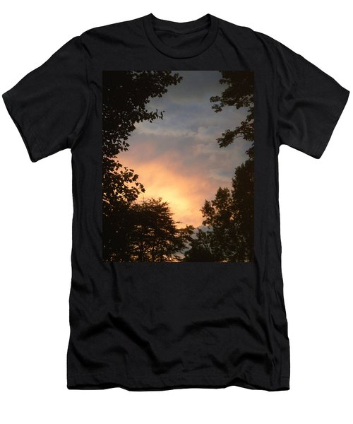 Men's T-Shirt (Slim Fit) featuring the photograph Framed Fire In The Sky by Sandi OReilly