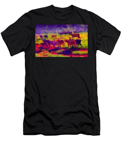Franca Cattle 1 Men's T-Shirt (Athletic Fit)