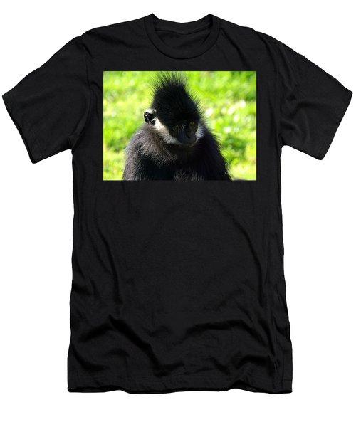 Francois Langur Men's T-Shirt (Slim Fit) by Lisa L Silva