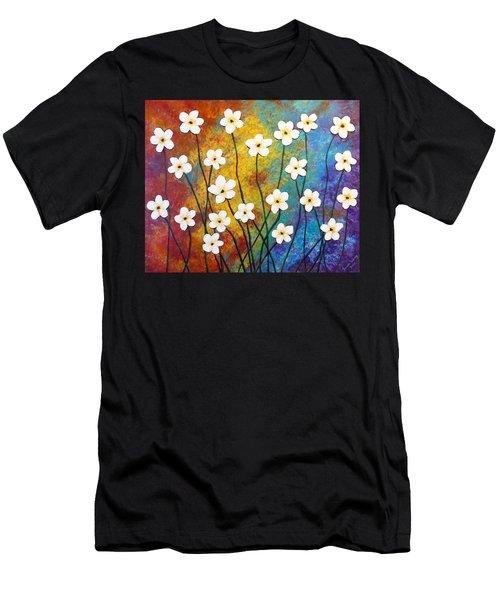 Frangipani Explosion Men's T-Shirt (Athletic Fit)
