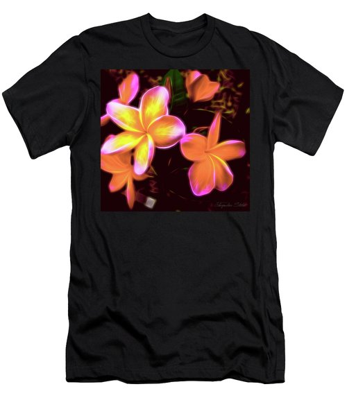 Frangipanis On The Glow Men's T-Shirt (Athletic Fit)