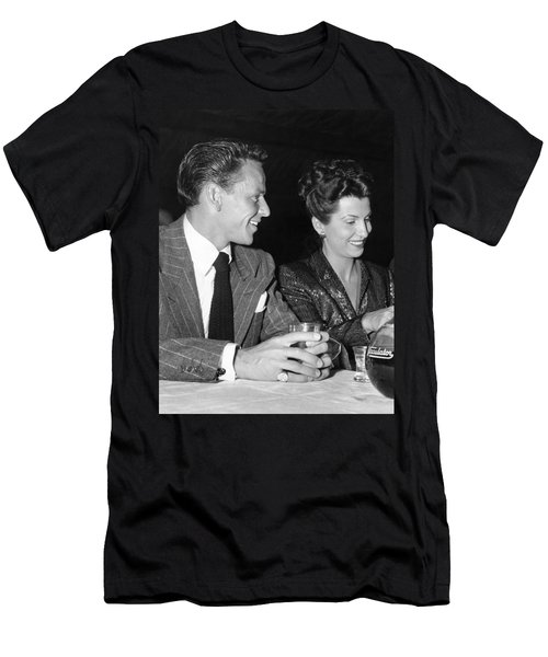 Frank Sinatra And Nancy Men's T-Shirt (Slim Fit) by Underwood Archives