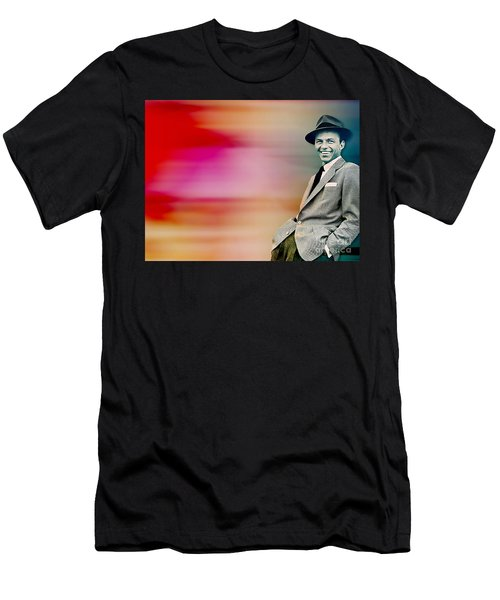 Frank Sinatra Men's T-Shirt (Slim Fit) by Marvin Blaine