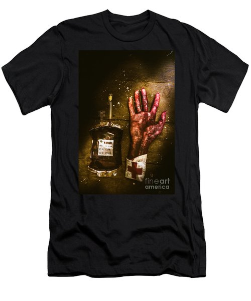 Frankenstein Transplant Experiment Men's T-Shirt (Athletic Fit)
