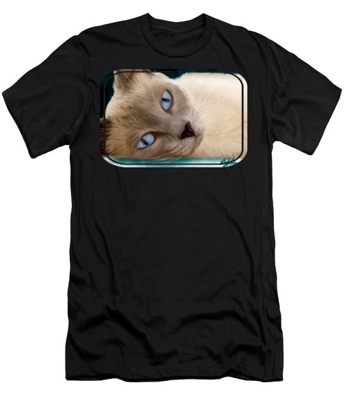 Frankie Blue Eyes Men's T-Shirt (Athletic Fit)