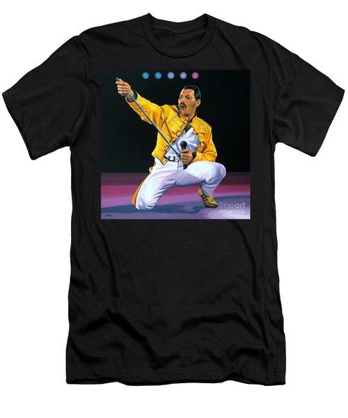 Freddie Mercury Live Men's T-Shirt (Athletic Fit)