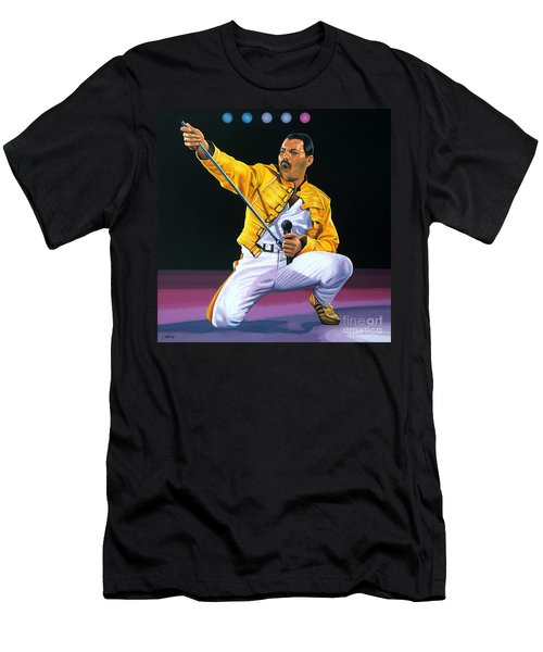 Freddie Mercury Live Men's T-Shirt (Athletic Fit)