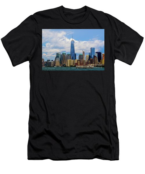 Freedom Tower Nyc Men's T-Shirt (Athletic Fit)