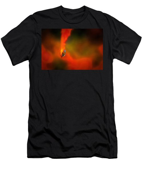 Men's T-Shirt (Slim Fit) featuring the mixed media Freddy Fender by Trish Tritz