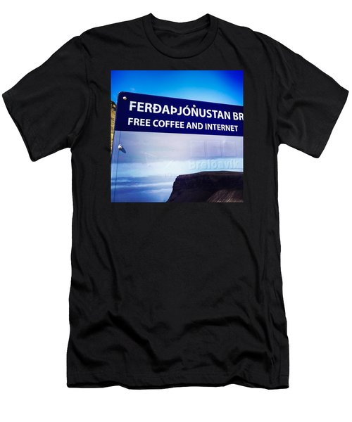 Free Coffee And Internet - Sign In Iceland Men's T-Shirt (Athletic Fit)
