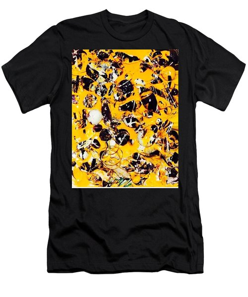 Men's T-Shirt (Slim Fit) featuring the painting Free Expression by Inga Kirilova