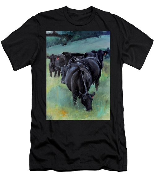 Free Range Cow Girls Men's T-Shirt (Slim Fit) by Michele Carter