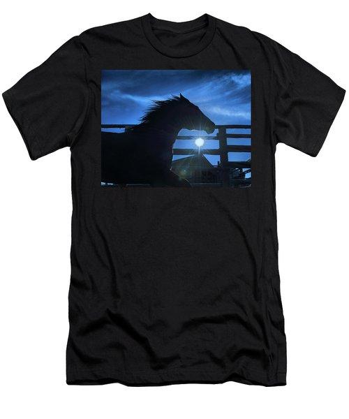 Free Spirit Horse Men's T-Shirt (Athletic Fit)
