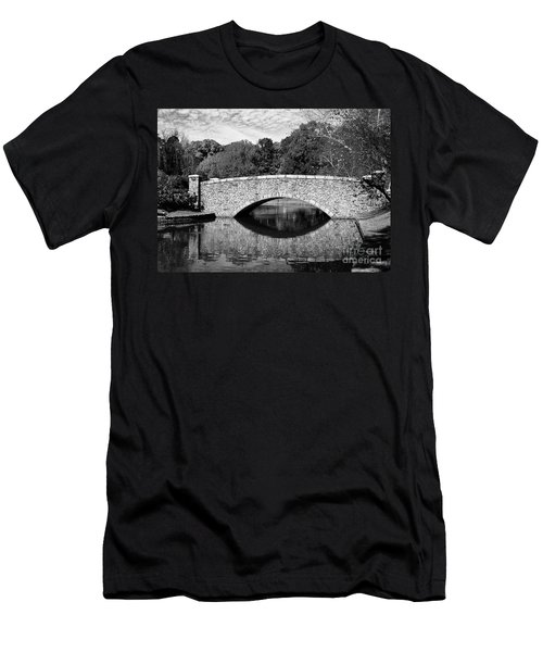 Freedom Park Bridge In Black And White Men's T-Shirt (Athletic Fit)