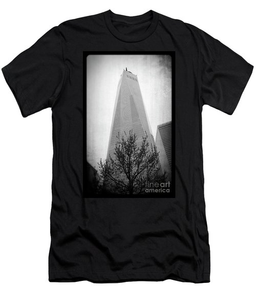 Freedom Tower 2 Men's T-Shirt (Slim Fit) by Paul Cammarata