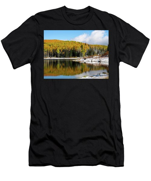 Freeman Lake In Northwest Colorado In The Fall Men's T-Shirt (Athletic Fit)