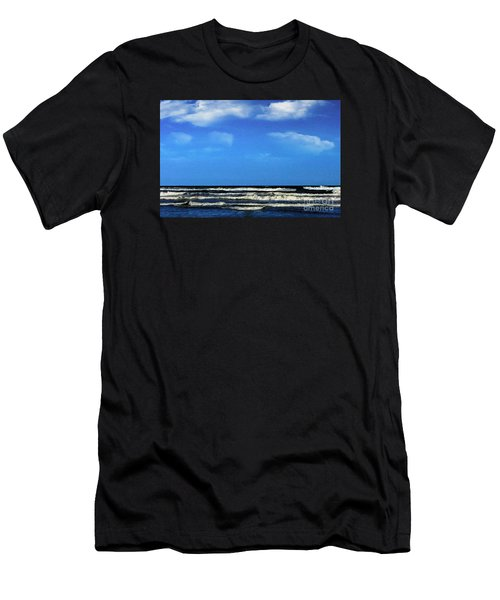 Freeport Texas Seascape Digital Painting A51517 Men's T-Shirt (Athletic Fit)