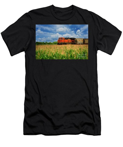 Freight Train Men's T-Shirt (Slim Fit) by Kelly Wade