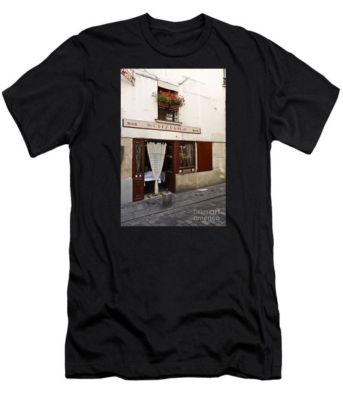 French Bistro Men's T-Shirt (Slim Fit) by Perry Van Munster