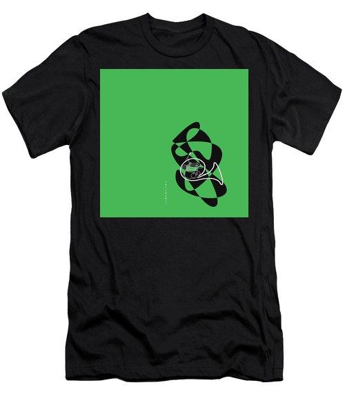 French Horn In Green Men's T-Shirt (Slim Fit) by David Bridburg