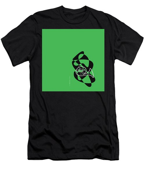 French Horn In Green Men's T-Shirt (Athletic Fit)