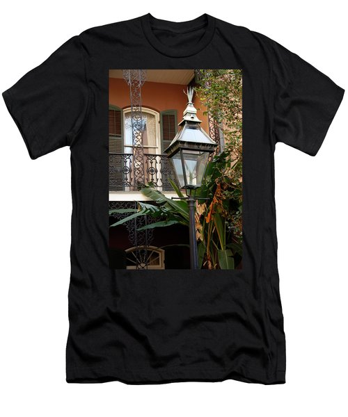 Men's T-Shirt (Slim Fit) featuring the photograph French Quarter Courtyard by KG Thienemann