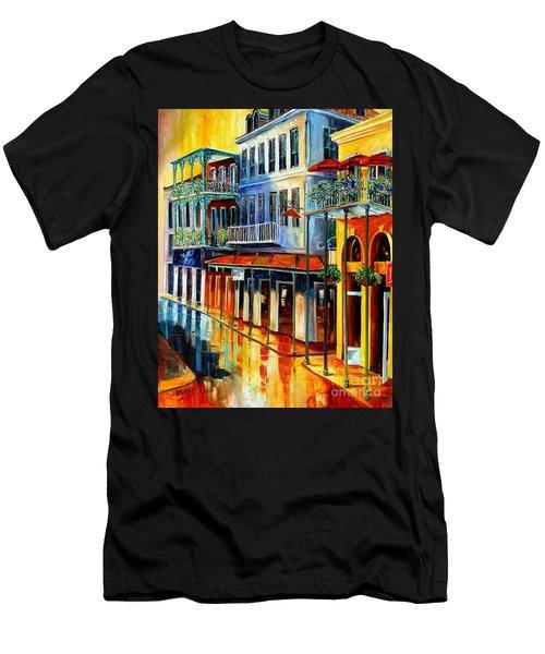 French Quarter Sunrise Men's T-Shirt (Athletic Fit)
