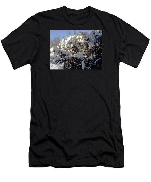 Fresc Snow Men's T-Shirt (Slim Fit) by Vicky Tarcau