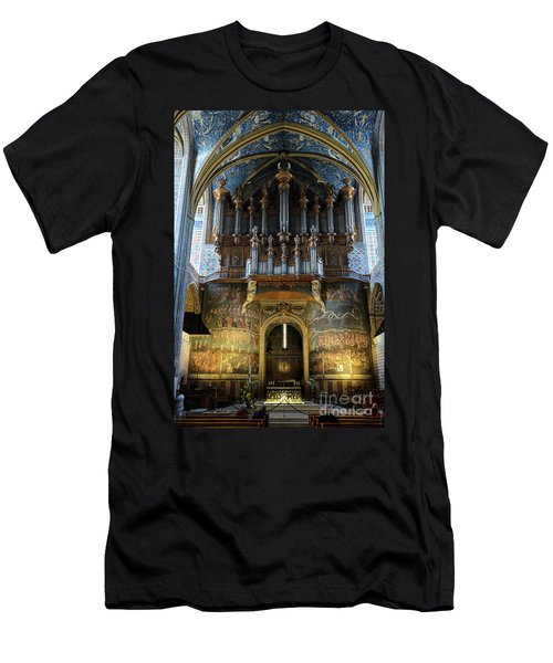 Fresco Of The Last Judgement And Organ In Albi Cathedral Men's T-Shirt (Slim Fit) by RicardMN Photography