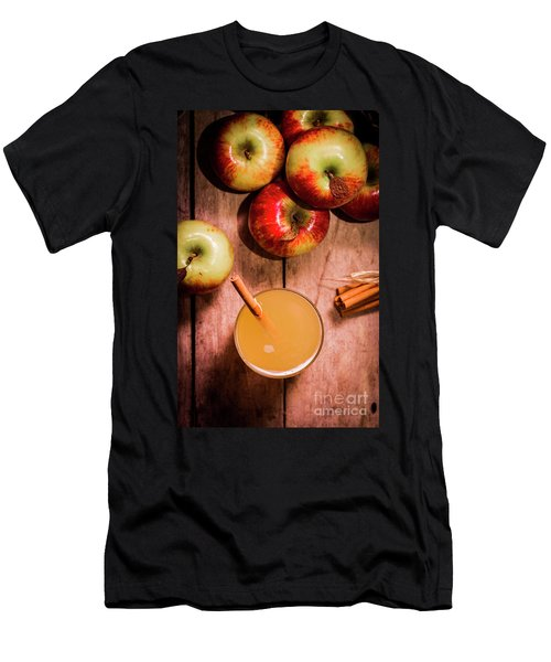Fresh Apple Cider With Cinnamon Sticks And Apples Men's T-Shirt (Athletic Fit)