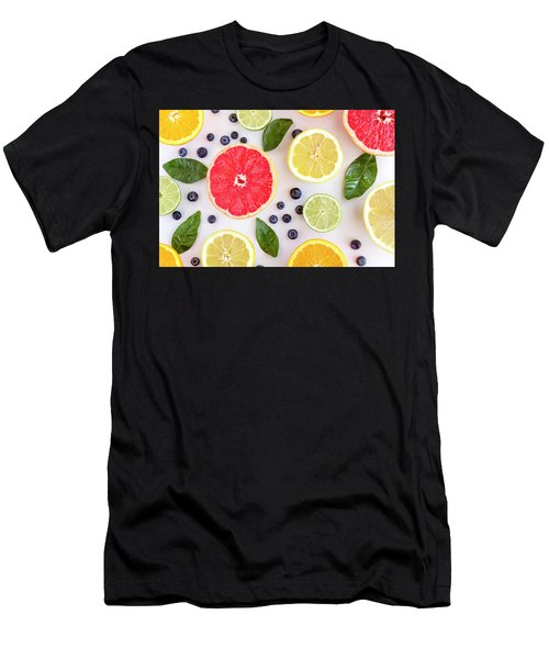 Fresh Citrus Fruits Men's T-Shirt (Athletic Fit)