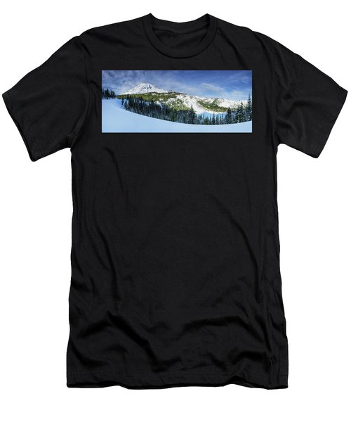 Fresh Snow At Mount Rainier Men's T-Shirt (Athletic Fit)
