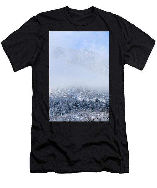 Fresh Snow In Cheyenne Mountain State Park Men's T-Shirt (Athletic Fit)