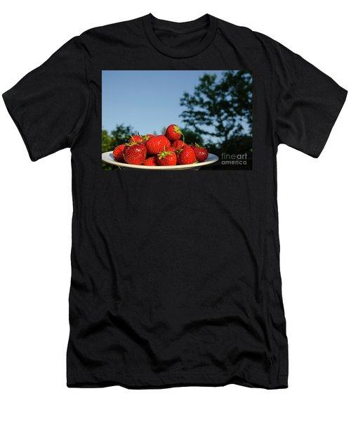 Men's T-Shirt (Athletic Fit) featuring the photograph Fresh Strawberriesl by Kennerth and Birgitta Kullman