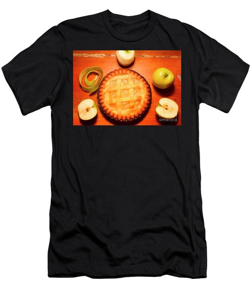 Freshly Baked Pie Surrounded By Apples On Table Men's T-Shirt (Athletic Fit)