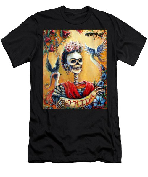 Men's T-Shirt (Slim Fit) featuring the painting Frida by Heather Calderon