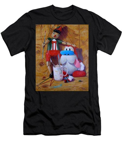 Friends 2  -  Pinocchio And Stimpy   Men's T-Shirt (Athletic Fit)